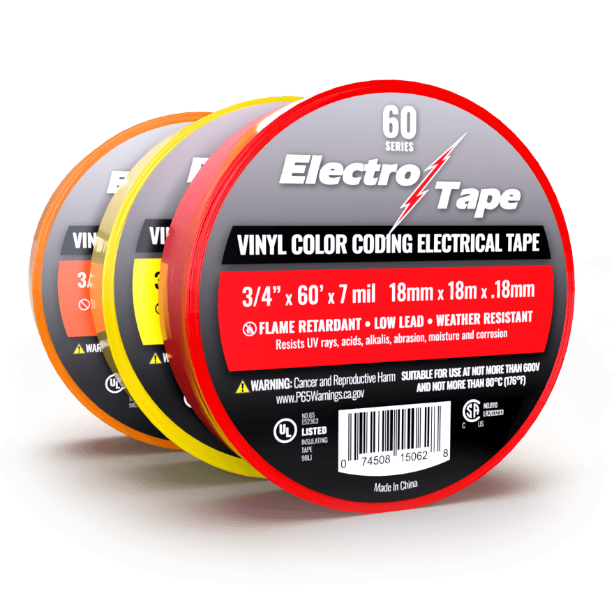 Vinyl Color Coding Phasing Electrical Tape Bulk Wholesale