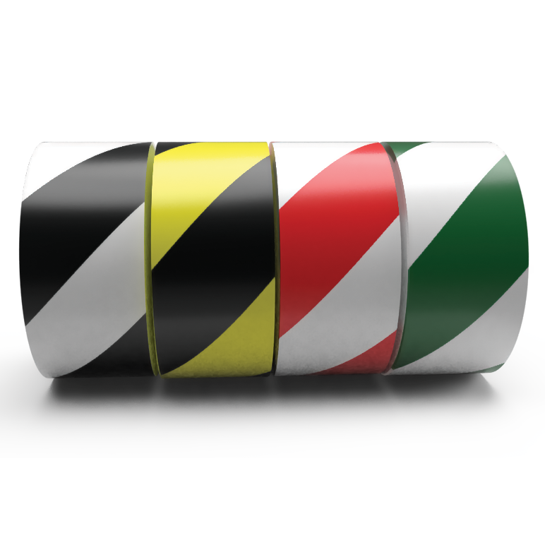 Safety Striped Hazard PVC Tape Bulk Wholesale