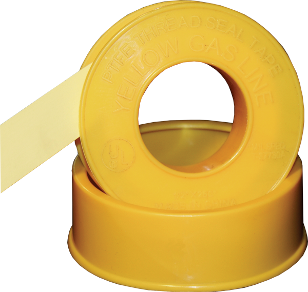 Gas Line Grade PTFE Thread Seal Tape Yellow Bulk Wholesale