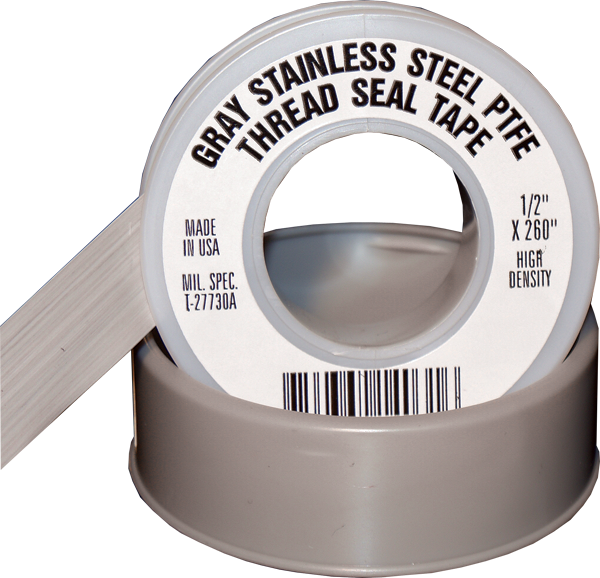Stainless Steel PTFE Thread Seal Tape Gray Bulk Wholesale