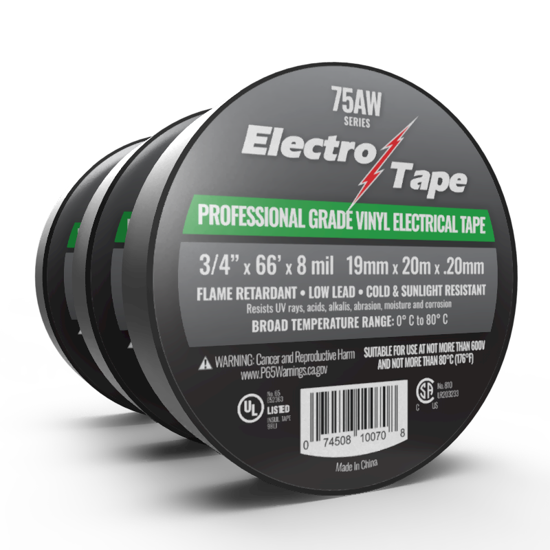 8 mil Professional Grade Vinyl Electrical Tape Bulk Wholesale