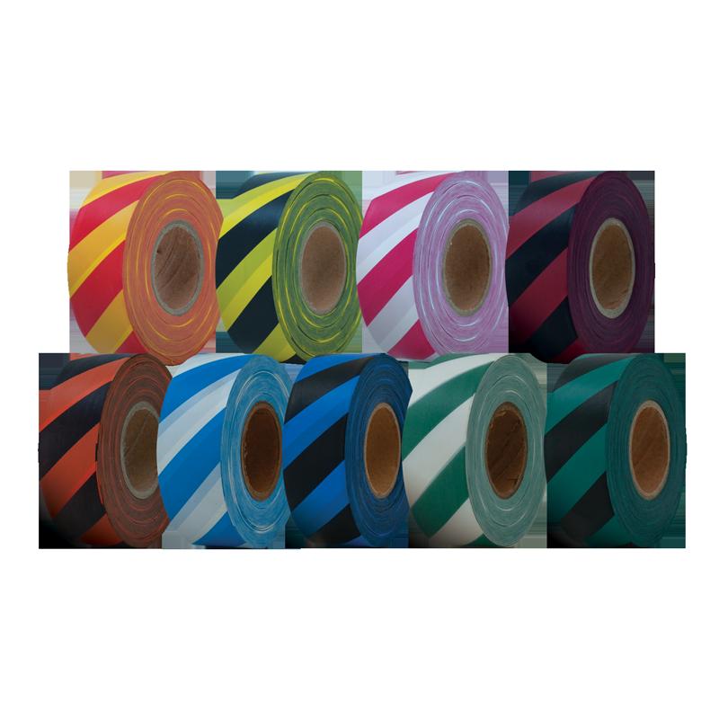 Striped Flagging Tape Ribbon Bulk Wholesale