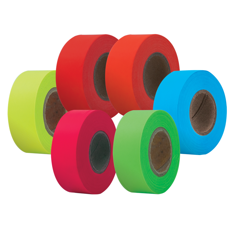 Flagging Tape High Visibility Glow Florescent Bulk Wholesale