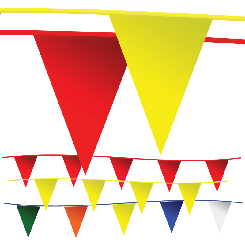 Bulk Pennant Flags Yellow Red Multi Color Wholesale