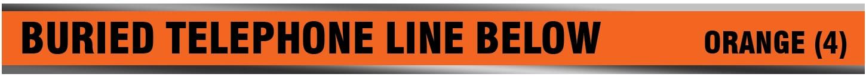 Underground Detectable Buried Fiber Optic Telephone Line Below Tape Bulk Wholesale